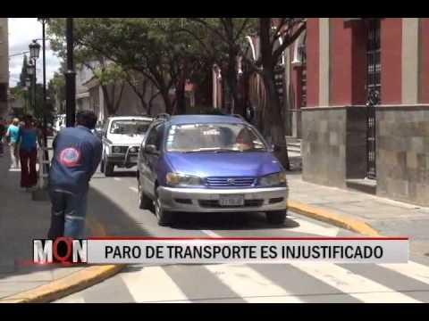 18/12/2014 13:44 PARO DE TRANSPORTE ES INJUSTIFICADO