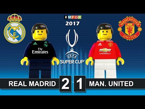 Uefa Super Cup 2017 • Real Madrid vs Manchester United 2-1 • Lego Football Film Goals Highlights