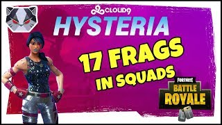 Hysteria | Fortnite Battle Royale -  17 Solo Frags  - Squads with JasonR, Hootie, and SwaggerLee