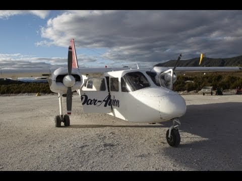 Travel with Traveltherenext.tv: http://www.youtube.com/ChristinaPfeiffer Video of Par Avion flight aboard a Britten Norman Islander from Melaleuca to Hobart ...