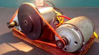 Make DC motor generator Free energy light bulb 220V easy - DIY project at home