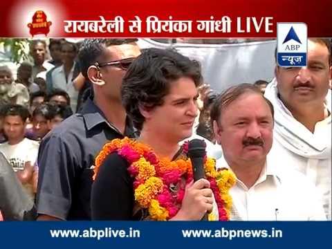 'Bhai' Priyanka Gandhi campaigns for Sonia Gandhi in Rai Bareily