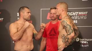 UFC Fight Night Hamburg Shogun Rua vs. Anthony Smith weigh in face off