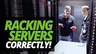 A DAY in the LIFE of the DATA CENTRE: RACKING SERVERS with ASH & JAMES!