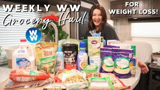 WEEKLY WW GROCERY HAUL FOR WEIGHT LOSS | FOODS I EAT ON WEIGHT WATCHERS!