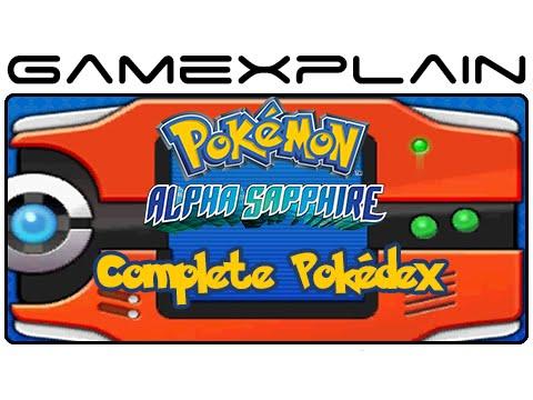 Pokémon Alpha Sapphire - 100% Complete Pokédex (3DS)