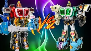 PowerRangers WildForce Green DX KongaZord GaoStrike VS Red DX GaoKnight MegaZord Transformation