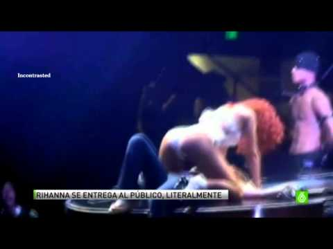 Rihanna seduciendo a una fan en concierto Miami