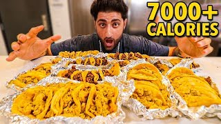 Attempting To EAT 50 Mexican Street Tacos