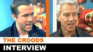 The Croods Interview - Ryan Reynolds, Chris Sanders at the NY Premiere : Beyond The Trailer