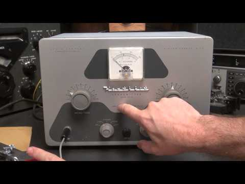 Vintage Tube Heathkit DX-40 AM CW Transmitter Demo with Drake Receiver