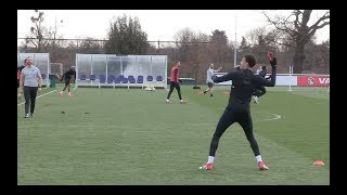 England show off Nerf Ball skills in training
