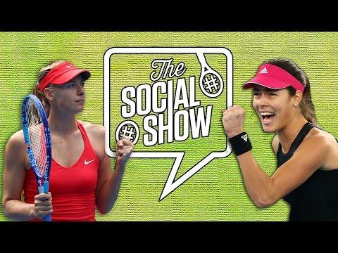 Maria, Ana and Sam draw our logo - #socialshow - Australian Open Social Show 2015