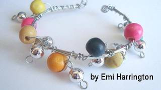 HOW TO MAKE A BEADED DANGLE CUFF BRACELET
