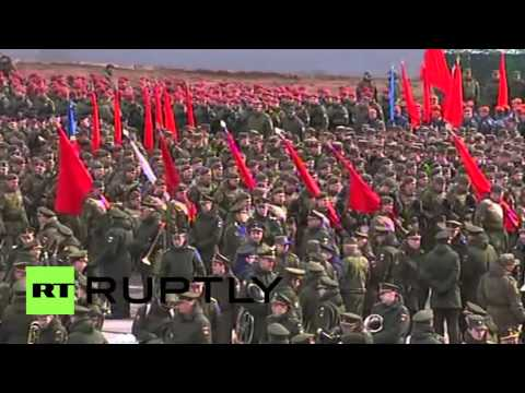Russia: See massive training drills for 2016 Victory Day Parade