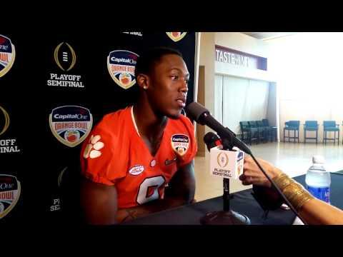Clemson's Wayne Gallman speaks at Orange Bowl media day