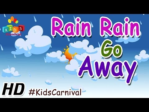 Rain Rain Go Away - Children English Nursery Rhyme With Lyrics (subtitles) And Action video