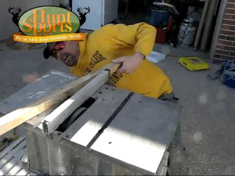 Build Your Own Deer Blind Stand Window & Door Construction Plans Deer Feeders Etc