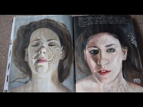 AS Art exam sketchbook