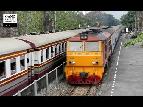 SRT : ALSTHOM 4223 with Train ID 202 Phitsanulok – Bangkok, Bangkok (Samsen Station), Thailand