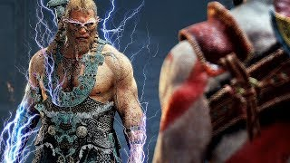 God of War 4: Magni, Modi & Thor - All Cutscenes + Boss Battle (4K Gameplay PS4 Pro)