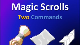 Magic Scrolls in vanilla Minecraft