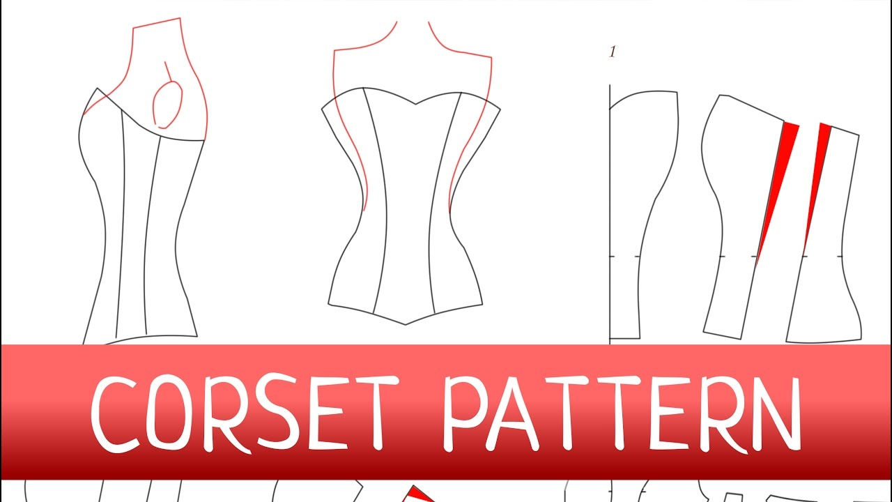 Corset pattern how to make a corset free pattern youtube for Wedding dress patterns free download