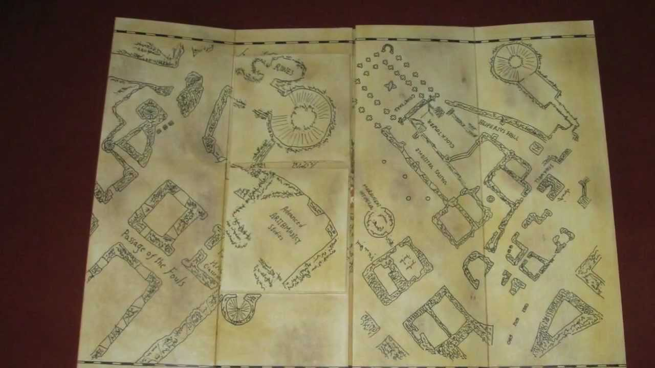 Noble Collection Harry Potter Marauders Map - Harry Potter - Karte on