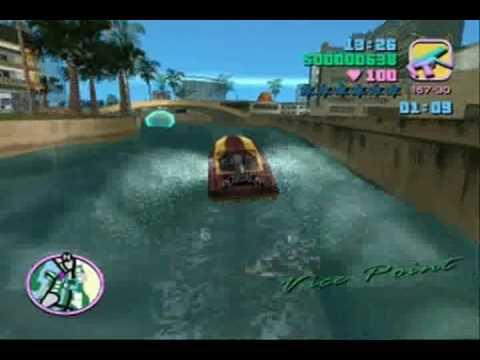 GTA Vice City / Missão 51 - Barquinho bem rapido