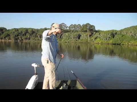 Guana Lake, Florida Fishing For Seatrout, Redfish: Jim Anderson & Bob McNally