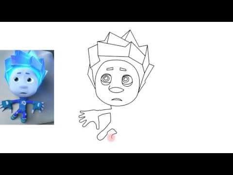 Как нарисовать фиксиков нолик поэтапно