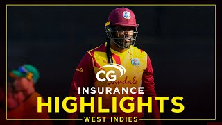 Highlights | West Indies vs South Africa | Evin Lewis hits 52 in Defeat | 5th CG Insurance T20I 2021