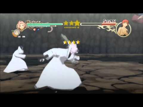 Naruto Ultimate Ninja Storm 2 Sakura Vs Sasori S-Rank HD (English)