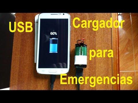 Cargador USB de Emergencia para el teléfono Celular (Portátil)