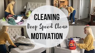 DEEP SPEED CLEAN WITH ME | CLEANING MOTIVATION FOR 2019! | Theresa Kettler