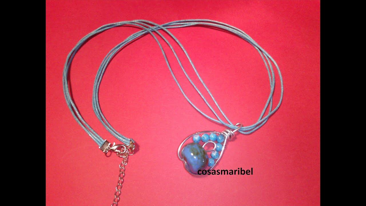 Como hacer un colgante de alambre con bolas color turquesa - Como hacer color turquesa ...