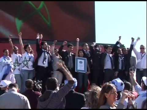Reportage Laith Bazari Al Arabiya News Channel / The Biggest Flag in the world  / Rabat / Morocco