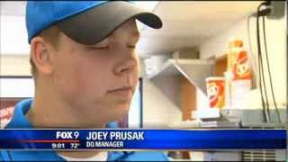 Dairy Queen Manager's Act of Kindness Goes Viral - Joey Prusak - Hopkins, Minnesota