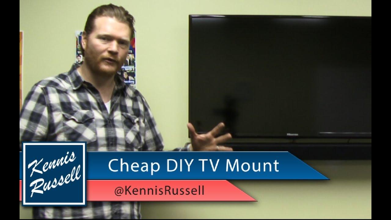 diy flat screen tv wall mount cheap youtube. Black Bedroom Furniture Sets. Home Design Ideas