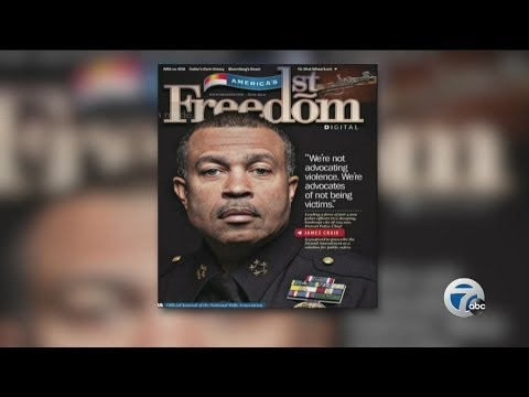 Detroit Police Chief James Craig on cover of NRA magazine