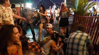 Witness footage of Las Vegas music festival shooting - video report
