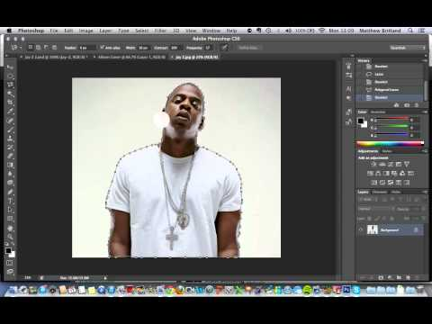Photoshop Album Cover Tutorial 1: Cutting out your artist