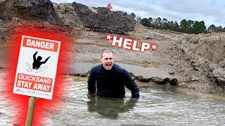 Almost Got Swallowed By Florida QuickSands (24 Hour Challenge)