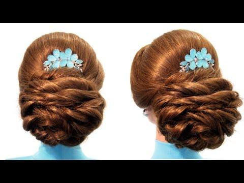 Свадебная прическа,вечерняя прическа,прическа на выпускной Wedding prom hairstyle