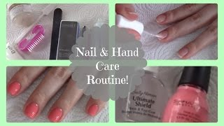 My Nail & Hand Care Routine | Easy at Home Manicure!