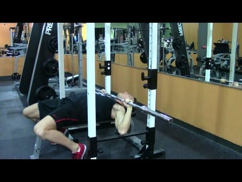 High Neck Press - HASfit Upper Chest Exercise Demonstration - Guillotine Pectoral Exercises