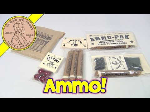 Cyrus Wakefield's Original Cartridge Candy, Black Powder, Hot Shot and Musket Ball Candy