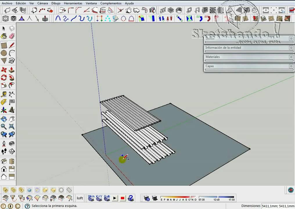 Chapas onduladas en sketchup youtube for Mobilia para sketchup 8