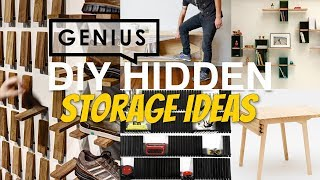 20 Smart DIY Hidden Storage Ideas that Keep Clutter in Check