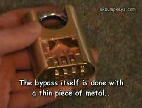 Inside the combination lock bypass